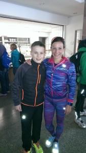 Zur Belohnung für die super Leistung gab es noch ein Foto mit der Deutschen Meisterin Sabrina Mockenhaupt