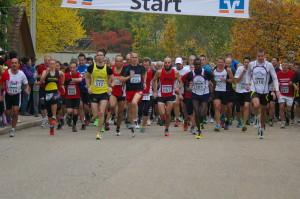 Start zum 10km Lauf mit mit dem Sieger Nr. 101