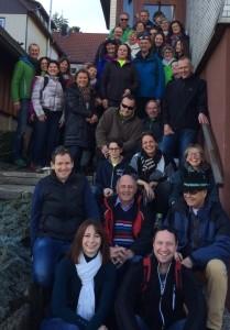Die Wandergruppe kurz vor dem Abmasch nach Feudenstadt