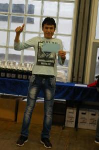 Stolzer Sieger an seinem Geburtstag Esmat Rezai