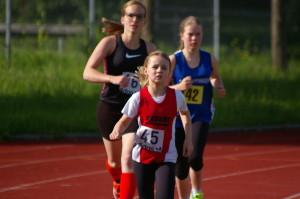 Lilli Moser in Führung nach 400m